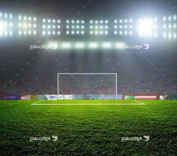 تصویر با کیفیت از ورزشگاه فوتبال