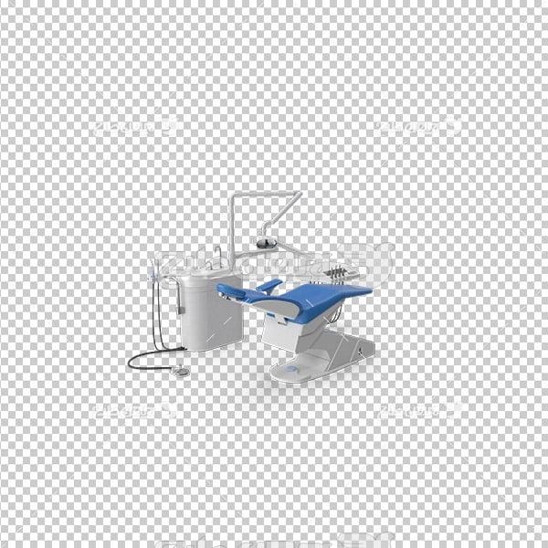 تصویر دوربری سه بعدی صندلی معاینه