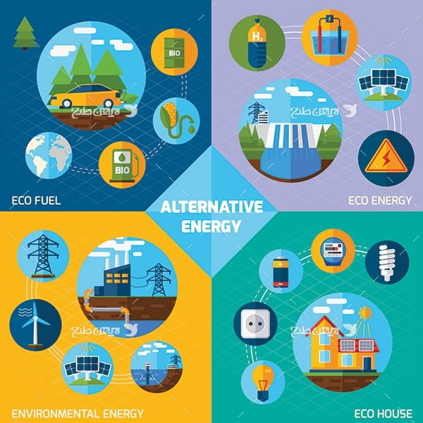 طرح وکتور گرافیکی مصرف انرژی