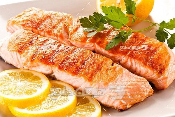 کباب گوشت ماهی و لیمو