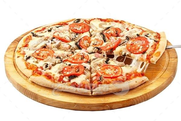 تصویر با کیفیت از پیتزا خوش مزه