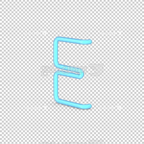 تصویر سه بعدی دوربری حرف لاتین E