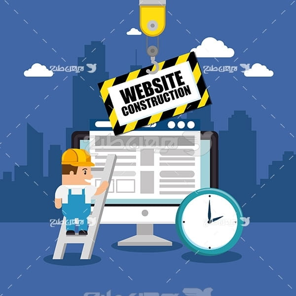وکتور وب سایت در حال بروز رسانی و ساخت