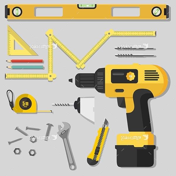 وکتور ابزار آلات