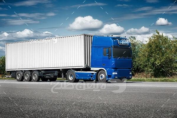 تصویر کامیون، حمل نقل و جاده