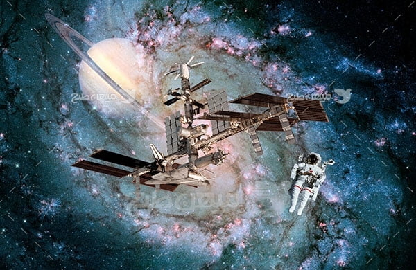 عکس فضانورد و فضاپیما