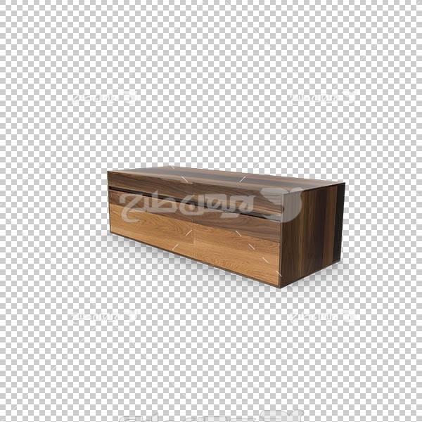 تصویر سه بعدی دوربری میز و چوب و تخته