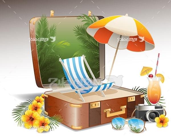 وکتور چمدان و مسافرت