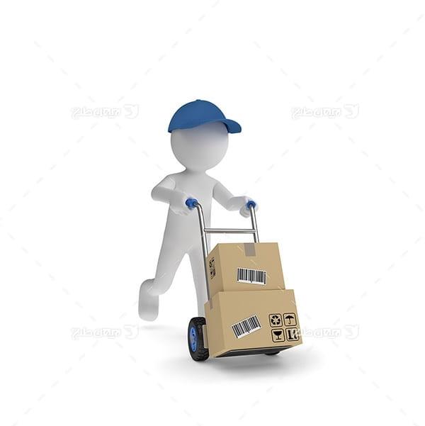 طرح کارکتر حمل و نقل و جعبه