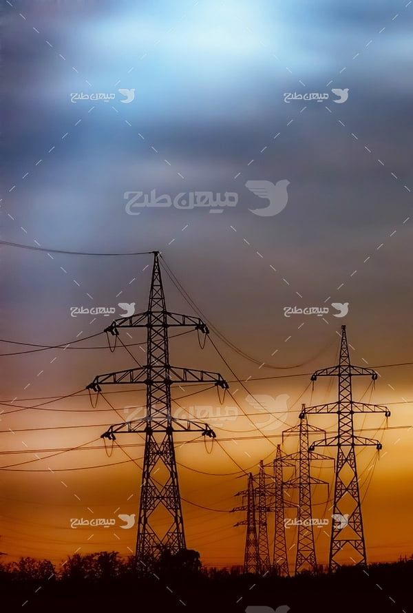 عکس دکل انتقال برق