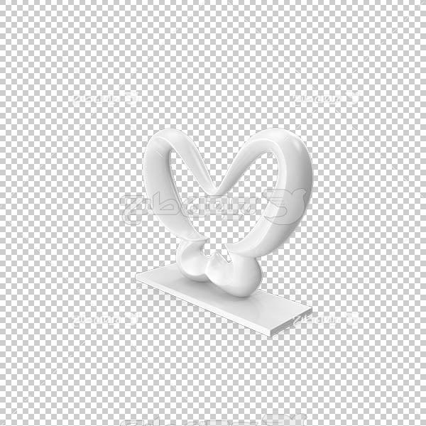 تصویر سه بعدی دوربری تندیس پروانه