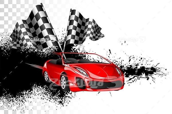 وکتور ورزشی ماشین مسابقه ای