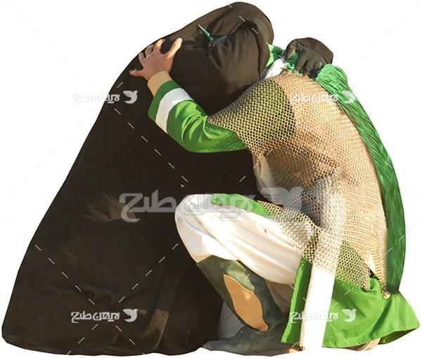 عکس امام حسین و حضرت زینب در تعزیه