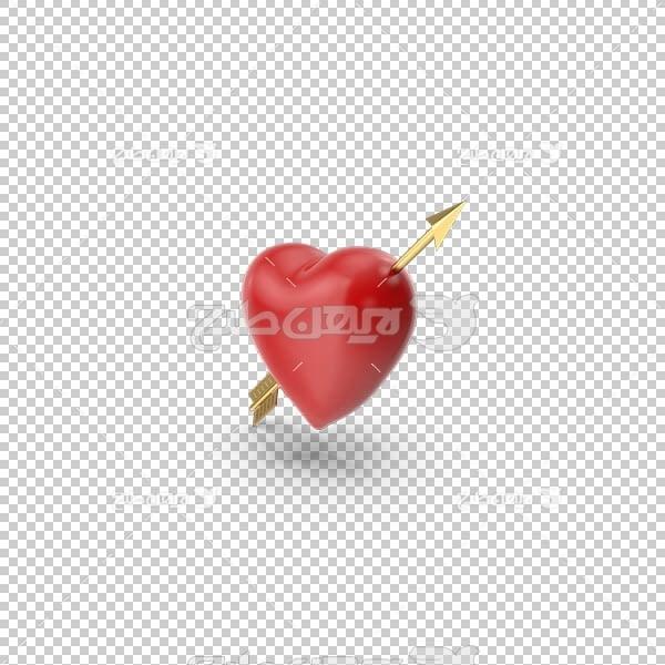 تصویر سه بعدی دوربری قلب قرمز