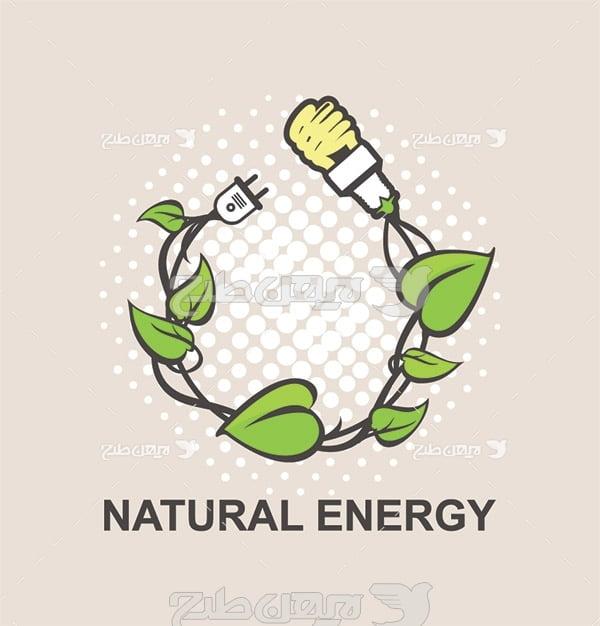وکتور تولید انرژی از طبیعت