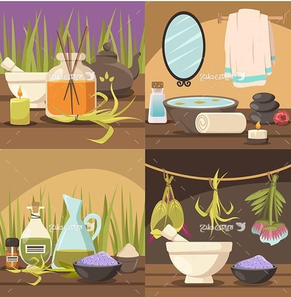 وکتور گیاهان دارویی