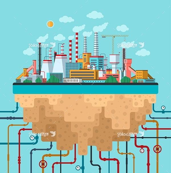 وکتور صنعت پتروشیمی و استخراج گاز و نفت