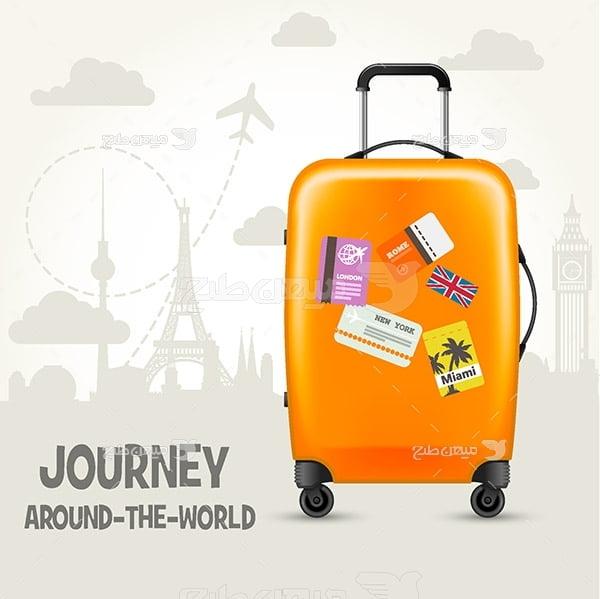 وکتور چمدان سفر
