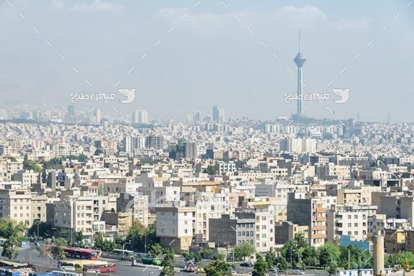 عکس شهر تهران و برج میلاد
