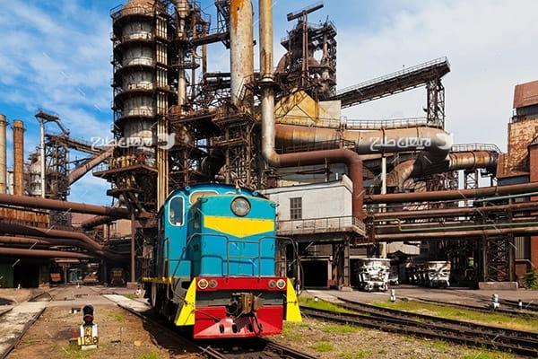 تصویر صنعتی از کارخانه پتروشیمی