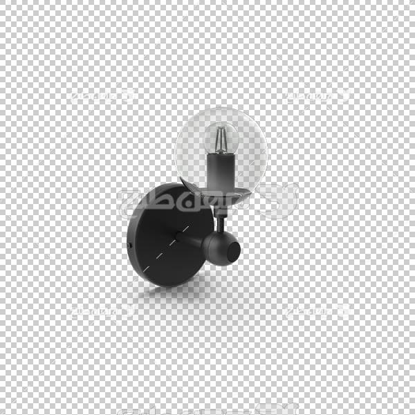 تصویر سه بعدی دوربری لامپ دیواری شیشه ای