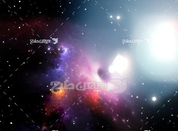 عکس حرکت ستاره ها و سیارات