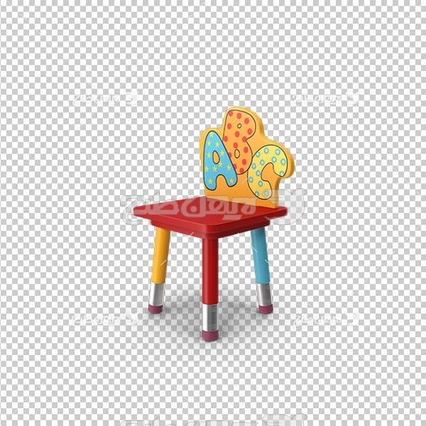تصویر دوربری سه بعدی صندلی کودک