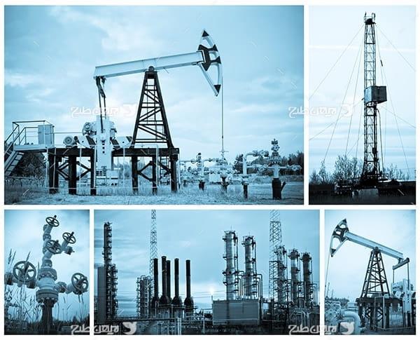تصویر صنعتی از پتروشیمی و پالایشگاه