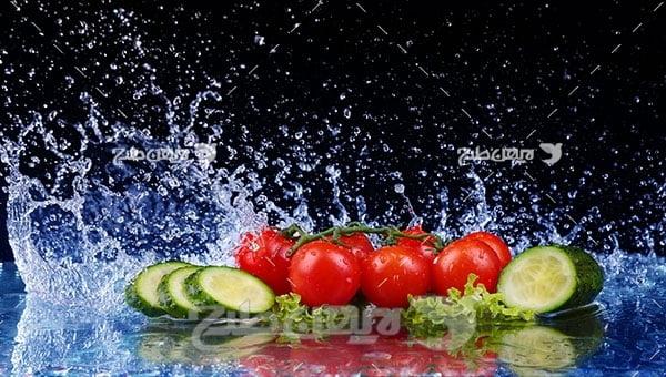 عکس خیار و گوجه فرنگی