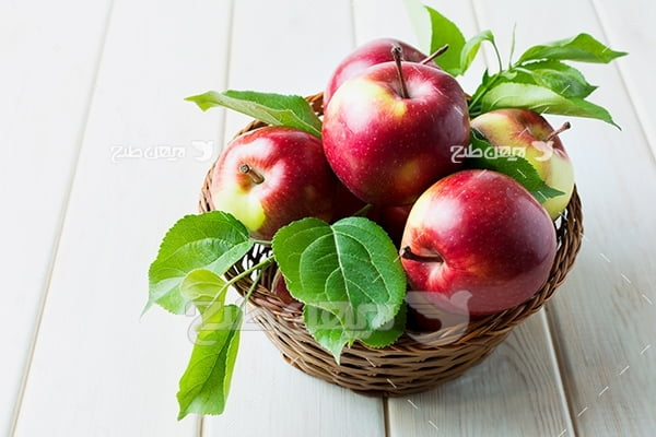 عکس سبد سیب