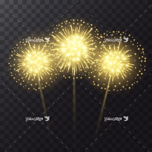 طرح وکتور انفجار نور و نور افشانی