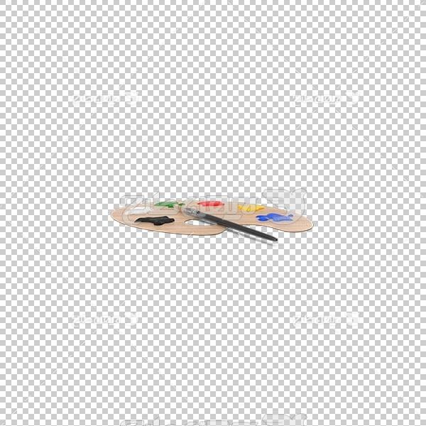 تصویر سه بعدی دوربری پالت نقاشی
