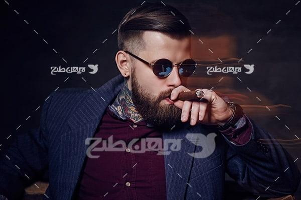 تصویر مدل مرد و عینک