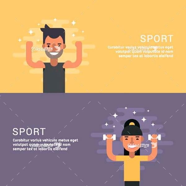 کارکتر مرد و زن ورزشکار