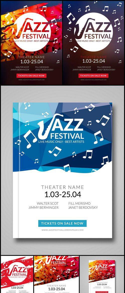 پوستر موسیقی جاز - وکتور