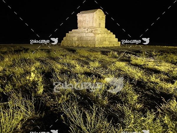 عکس آرامگاه کورش کبیر در پاسارگاد
