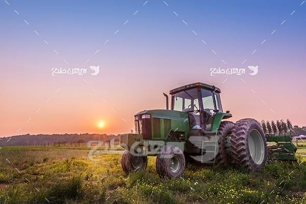 عکس کشاورزی و تراکتور