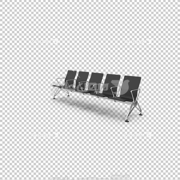 تصویر سه بعدی دوربری صندلی چندنفره ردیفی