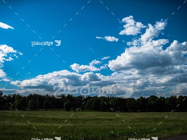 عکس منظره و ابر