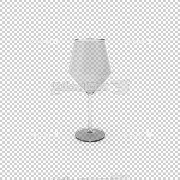 تصویر سه بعدی دوربری لیوان بلور