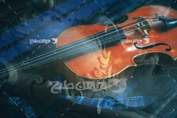 تصویر موسیقی و ویولن