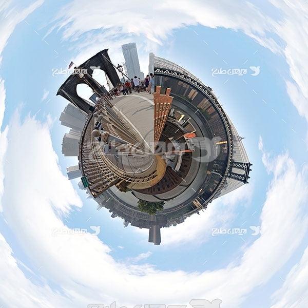عکس شهر در حالت کروی 360 درجه