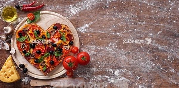 پیتزا به شکل قلب