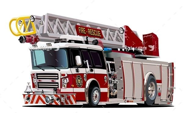 وکتور ماشین آتش نشانی