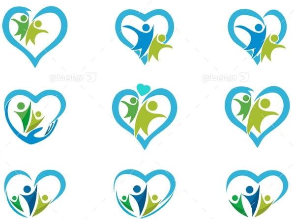 لوگو با موضوع قلب و درمان