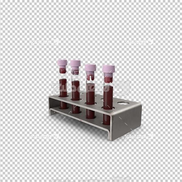 تصویر دوربری سه بعدی ظرف آزمایش خون