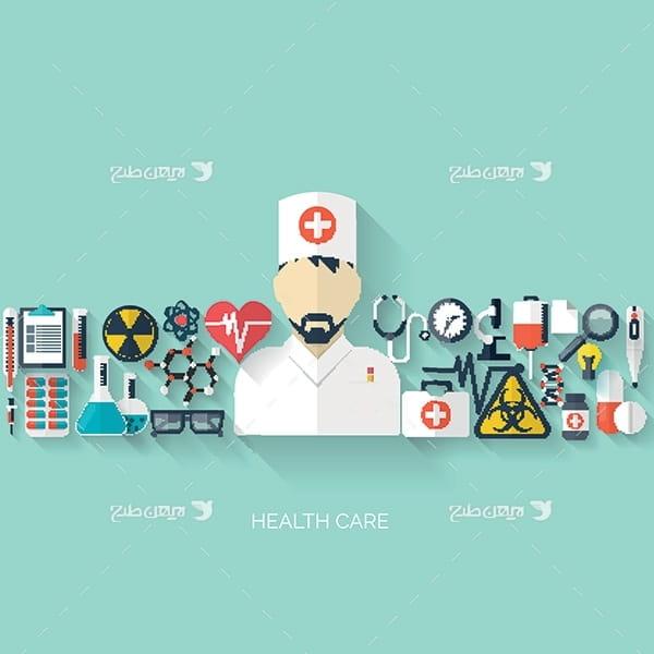 طرح وکتور گرافیکی با موضوع پزشکی و درمان
