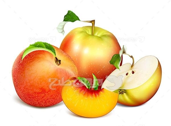 وکتور سیب و هلو