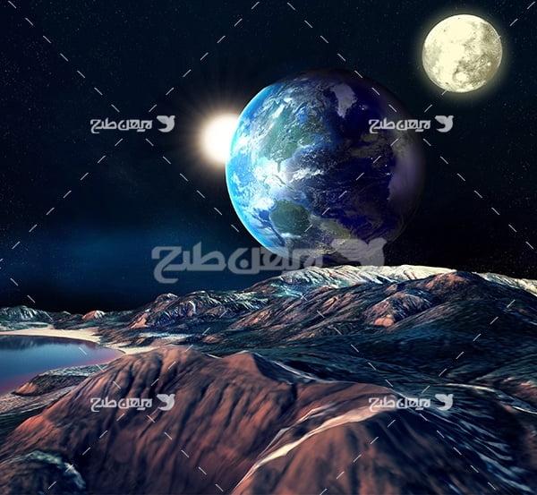 عکس از محیط فضا و سیارات