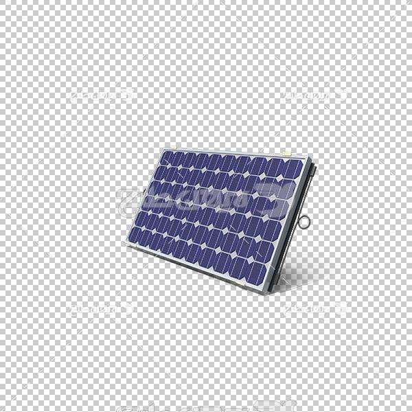 تصویر سه بعدی دوربری صفحه خورشیدی